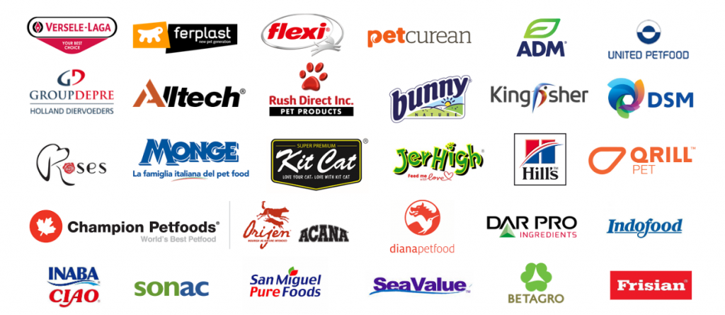 Some of the exhibitors at Pet Fair SEA